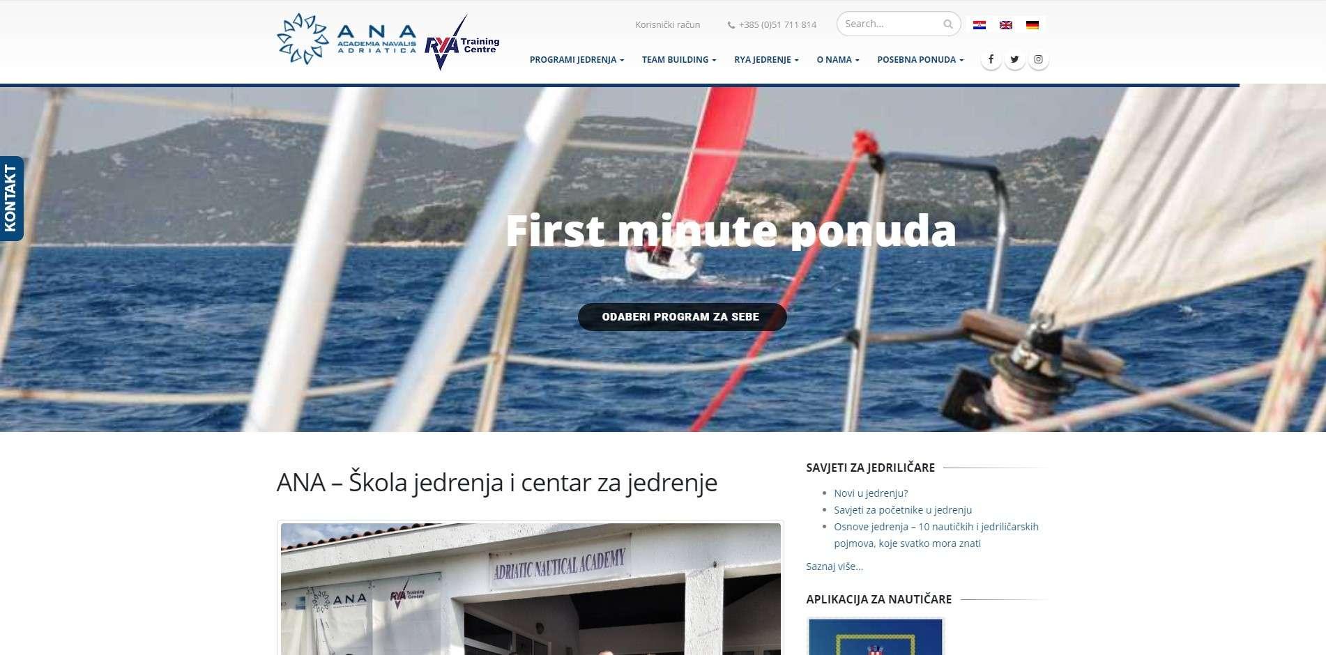 Škola i centar za jedrenje ANA