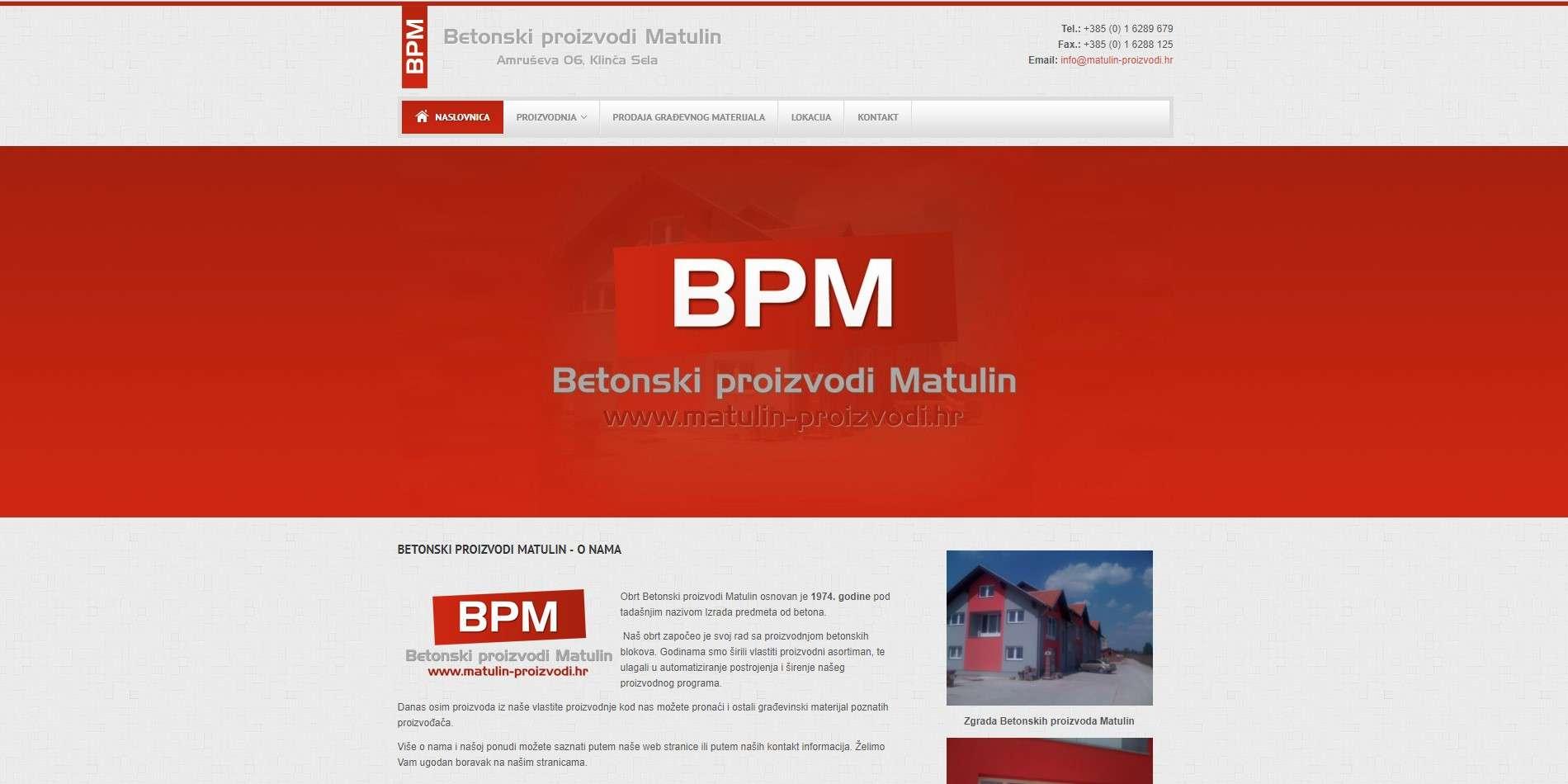 Betonski proizvodi Matulin