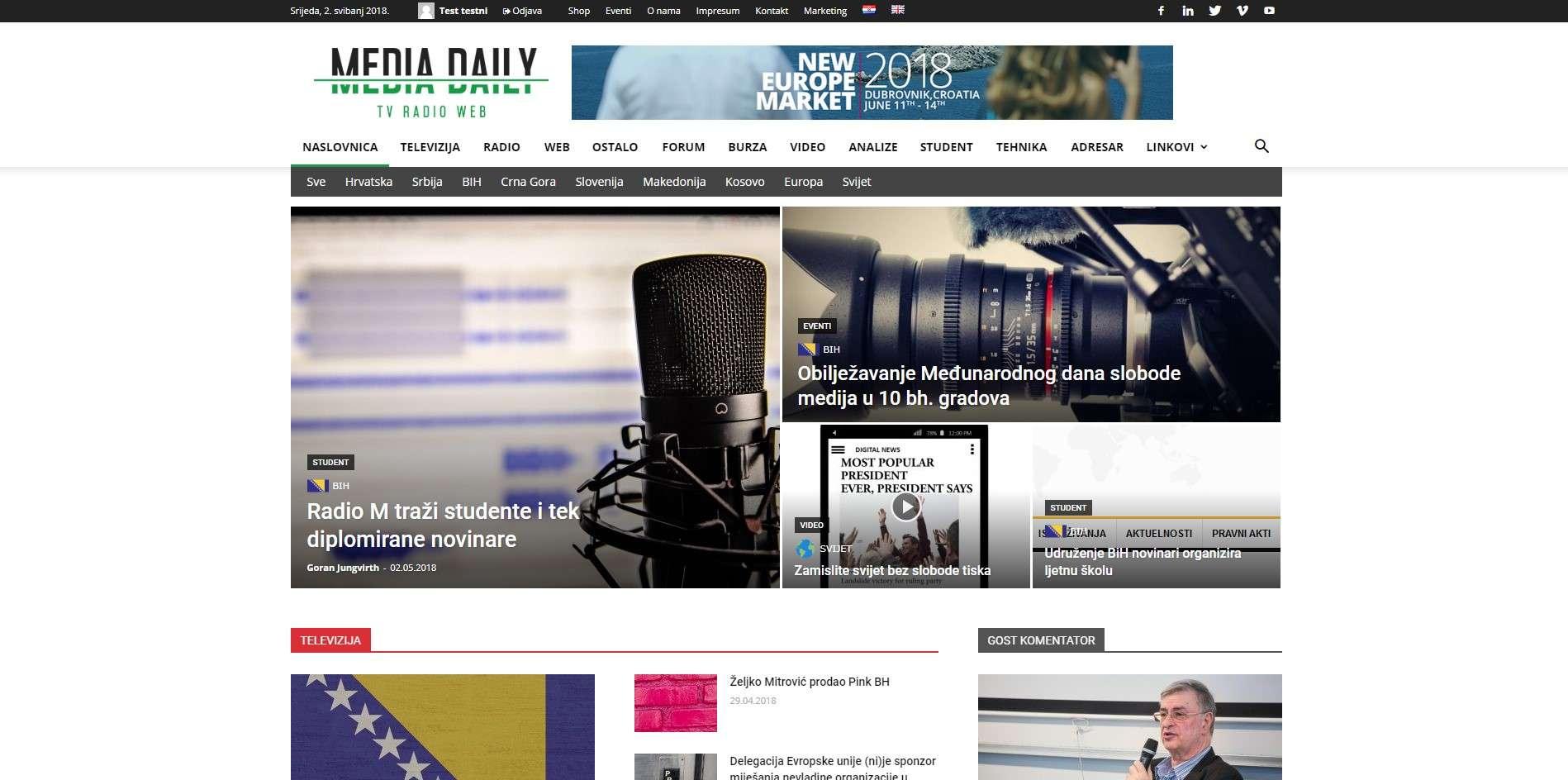 Media Daily web portal